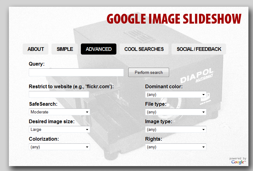 how to make a slideshow on google