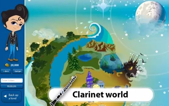Charanga Music World: Online Instrument Tuition via Video Games