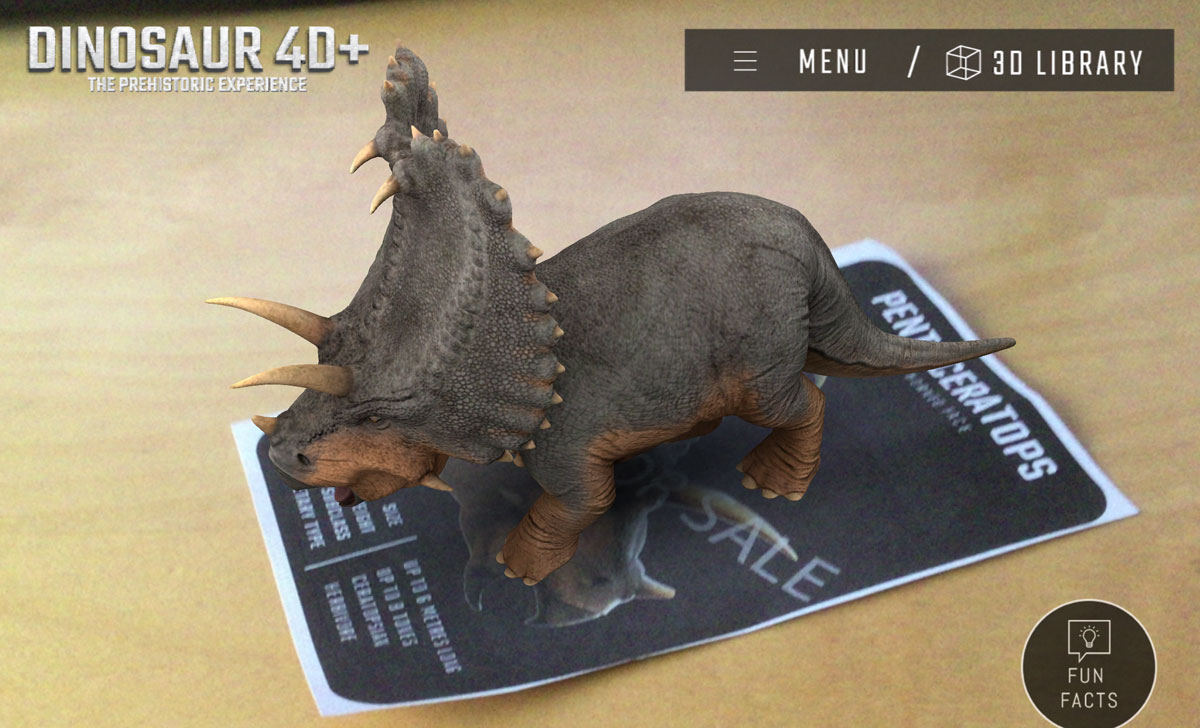 Augmented Reality Animals, Dinosaurs and Space Apps From Octagon Studios
